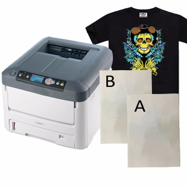 It is a photo of Laser Printable Heat Transfer Vinyl in garment printing