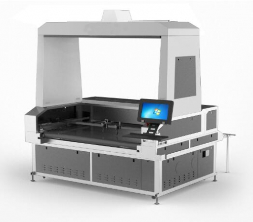 Vision Laser Cutter Dual Desynchronized Head 1.8x1.2m for sublimation transfer printing textile