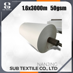 2018 high quality 50gsm high speed sublimation transfer paper sale