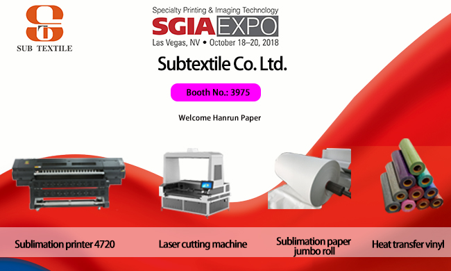 Exhibition SGIA  in Las Vegas, Unite States.October 18th 2018 to October 20th 2018