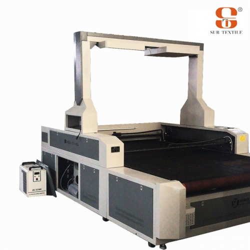Vision Laser Cutter Dual Desynchronized Head 1.8x2.6m for sublimation transfer printing textile