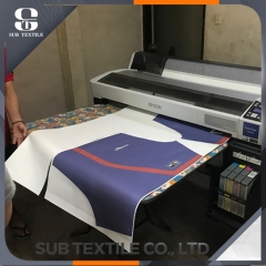 Hi Sticky 80gsm Dye Sublimation Paper For Sportswear