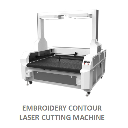 Dual Head Laser Cutting Machine For Embroidery Textile, Sportswear