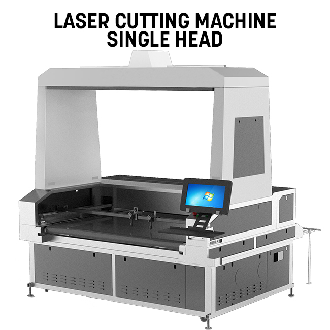 Vision Laser Cutter Single Head 1.6x1m for sublimation transfer printing textile