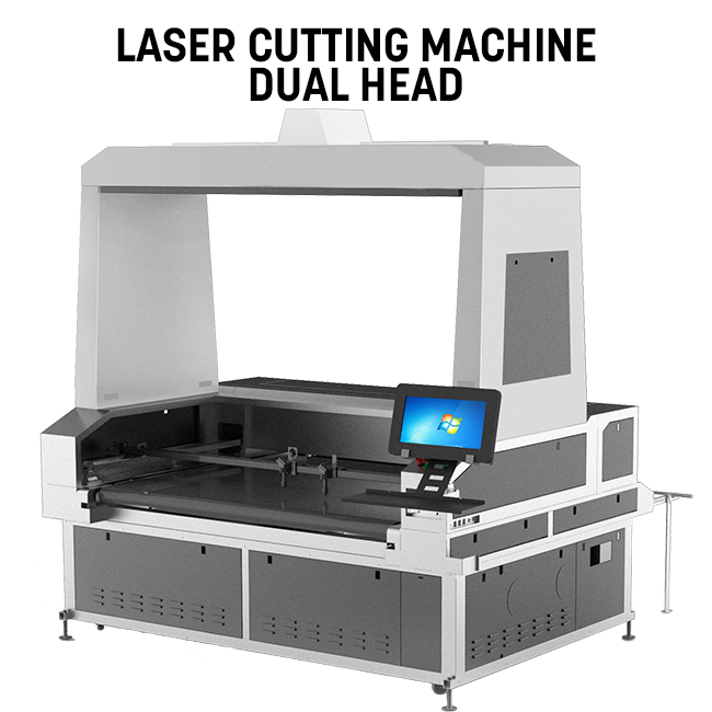 New Arrival 1.8mX1.2m Double Head Laser Cutting Machine