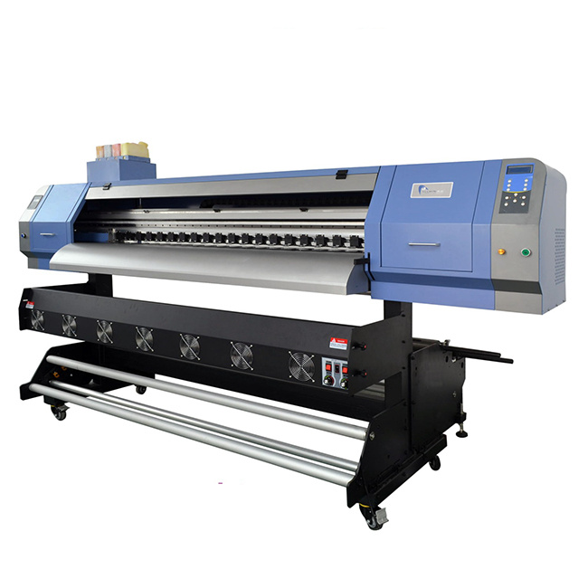 1.8m 4 Head 4720 Sublimation Printer Rolling And Winding Behind