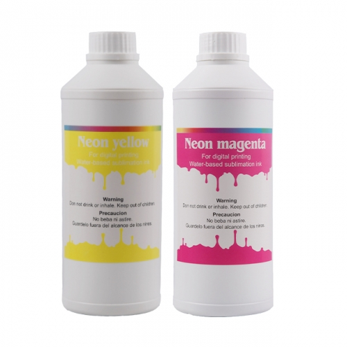 Neon Sublimation Ink For Custom Designing M,Y Colors For Epson DX4,DX5